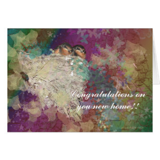 Congratualtions on your new home - Barn Swallows Card