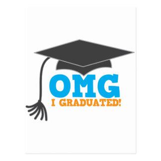 ¡Congratuations de OMG I graduado Postales