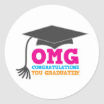 ¡Congratuations de OMG que usted graduó! Etiqueta