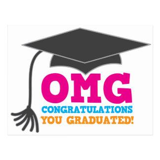 ¡Congratuations de OMG que usted graduó Tarjeta Postal