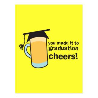 ¡congratuations que usted graduó Vidrio de CERVEZ Tarjetas Postales