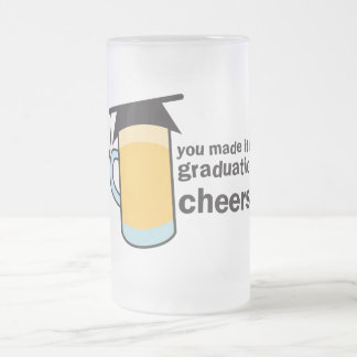¡congratuations que usted graduó! Vidrio de Taza De Cristal