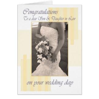 Congratula de la crema del día de boda del hijo y