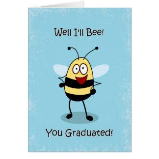 Congratulaitons Graduate Bumble Bee Greeting Card