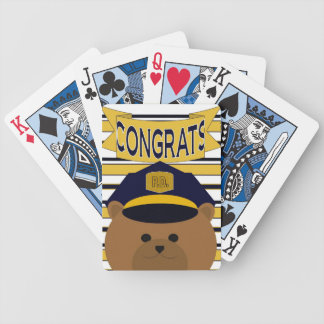 Congratulate Your Favorite Police Officer! Bicycle Playing Cards