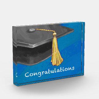 Congratulation Black and Blue Acrylic Award