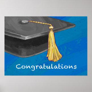 Congratulation Black and Blue Poster
