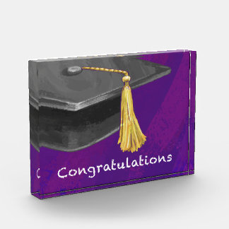 Congratulation Black and Purple Award