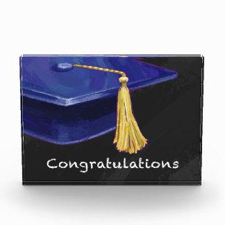 Congratulation Blue and Black Acrylic Award