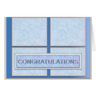 Congratulation Card in Blue