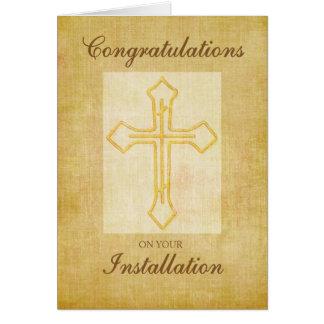 Congratulation Installation, Religious Cross Card