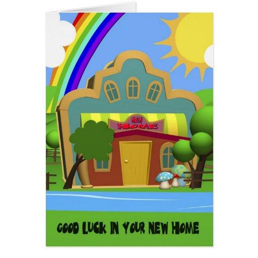 Congratulation New Home Cartoon House Card Zazzle