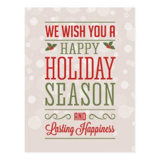 Congratulation of Christmas Postcard