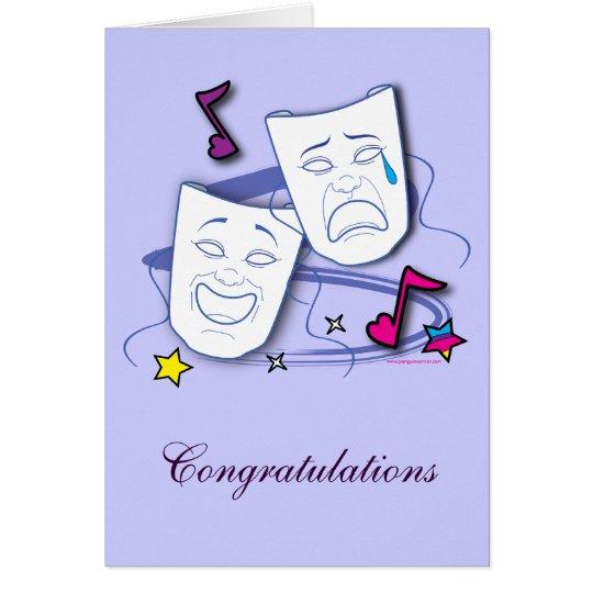 Congratulation on Drama Performance: Play Card