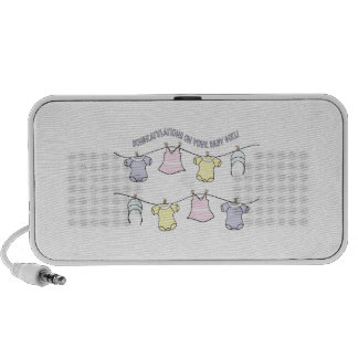 Congratulation On Your Baby Girl! Travelling Speaker