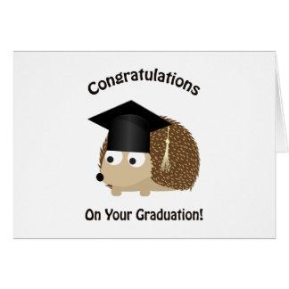 Congratulation on Your Graduation Hedgehog Card