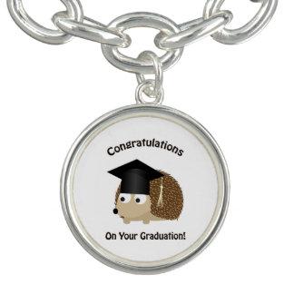 Congratulation on Your Graduation Hedgehog Charm Bracelets