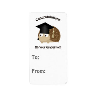 Congratulation on Your Graduation Hedgehog Label
