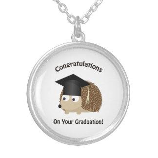 Congratulation on Your Graduation Hedgehog Round Pendant Necklace