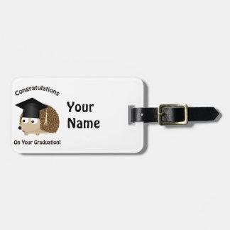 Congratulation on Your Graduation Hedgehog Tag For Luggage