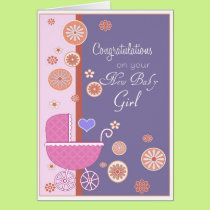 Congratulation on your New Baby Girl Card