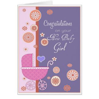 Congratulation on your New Baby Girl Greeting Card