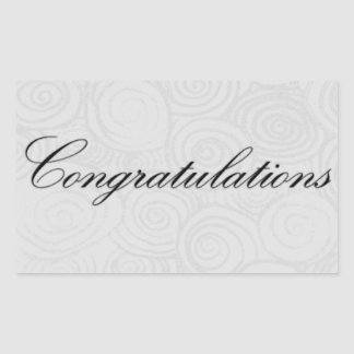 Congratulation Swirls Rectangular Sticker