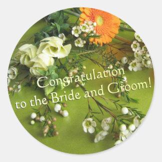 Congratulation to the Bride and Groom Classic Round Sticker