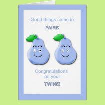 Congratulation Twin Boys Card