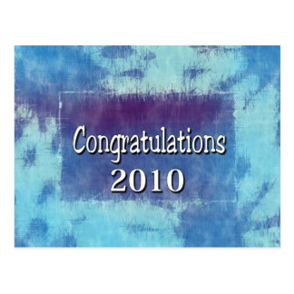 Congratulations 2010 postcard