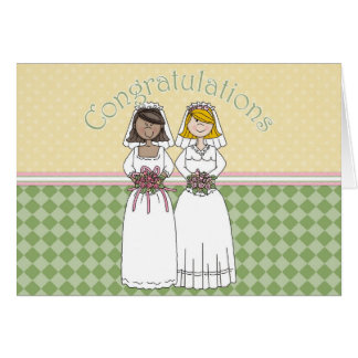 Congratulations 2 Brids 6 Card