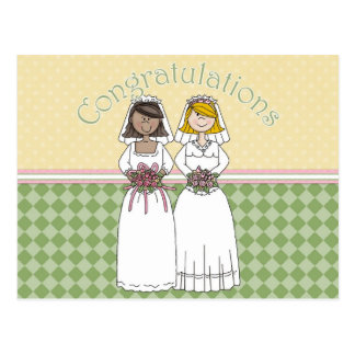 Congratulations 2 Brids 6 Postcard