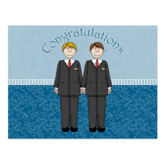 Congratulations 2 Grooms Blue Card 3