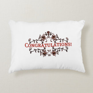 Congratulations 3 accent pillow