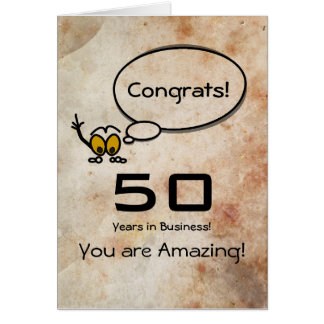Congratulations 50 years in Business Card
