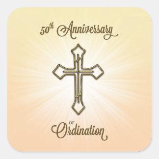 Congratulations 50th Ordination Anniversary Square Sticker