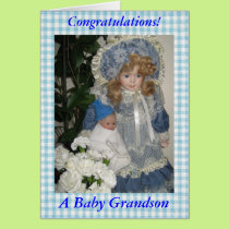 Congratulations a baby grandson card