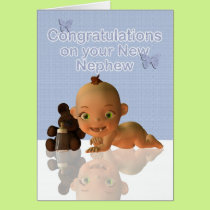 Congratulations A Beautiful Baby boy Card