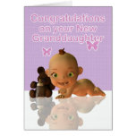 Congratulations A Beautiful Baby Girl Granddaughte Greeting Card