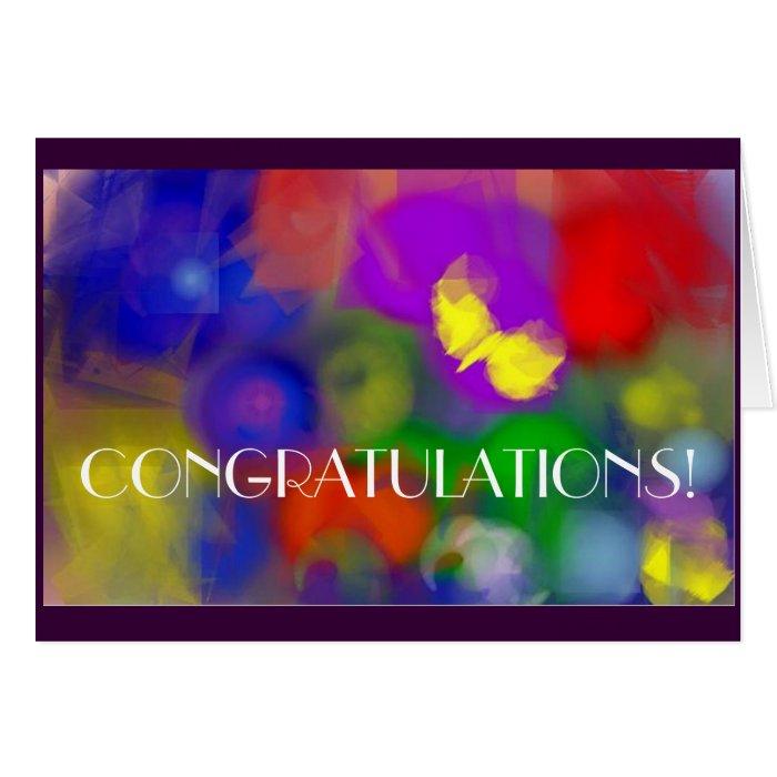 Congratulations Abstract Card