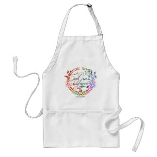 Congratulations and best wishes (color ver.) adult apron