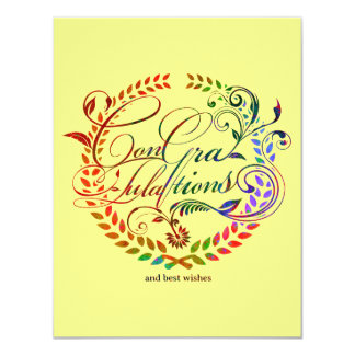Congratulations and best wishes (color ver.) card