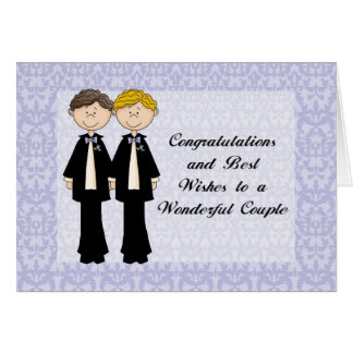 Congratulations and Best Wishes Gay Male Wedding C Card