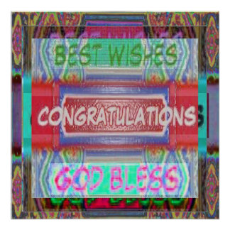 CONGRATULATIONS and best wishes Poster
