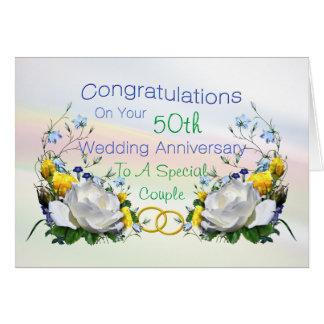 Congratulations Anniversay Roses Card