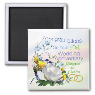 Congratulations Anniversay Roses Magnets