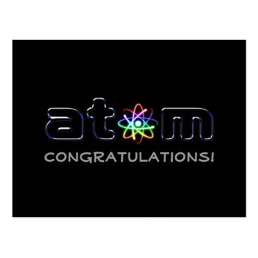 Congratulations! Atom (001) - Greetings Postcard