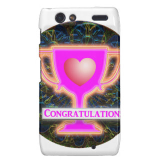 CONGRATULATIONS AWARD Text and Graphic Droid RAZR Covers