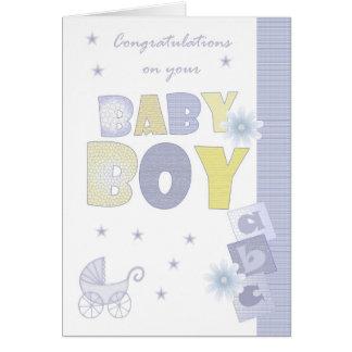 Congratulations Baby Boy Card, New Baby Greeting Card