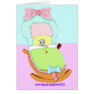 Congratulations; Baby Finch Card